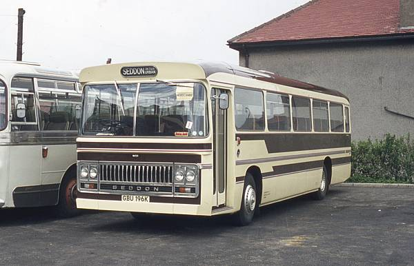 1972 Seddon Pennine VI with Seddon Interurban DP49F bodywork