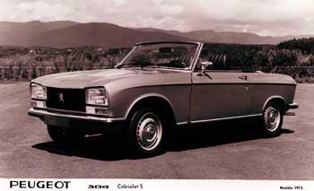 1975 peugeot 304 cabrio bw