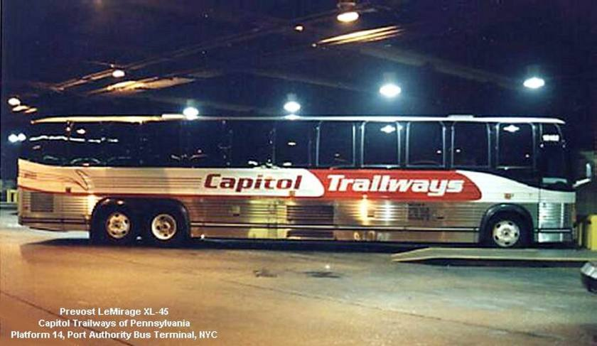 1996 Prevost Le Mirage XL-45 Capital Trailways of Pennsylvania NYC