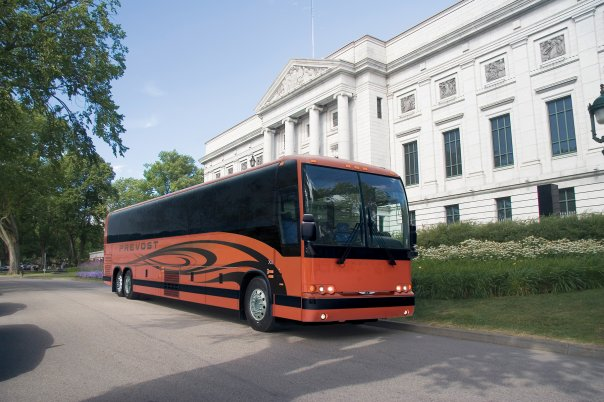 2010 Prevost X3-45 Motorcoach at Museum