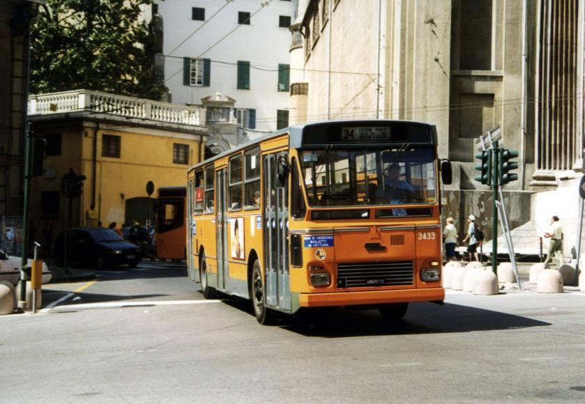 Fiat 418AL Portesi 3433 dell'AMT Genova