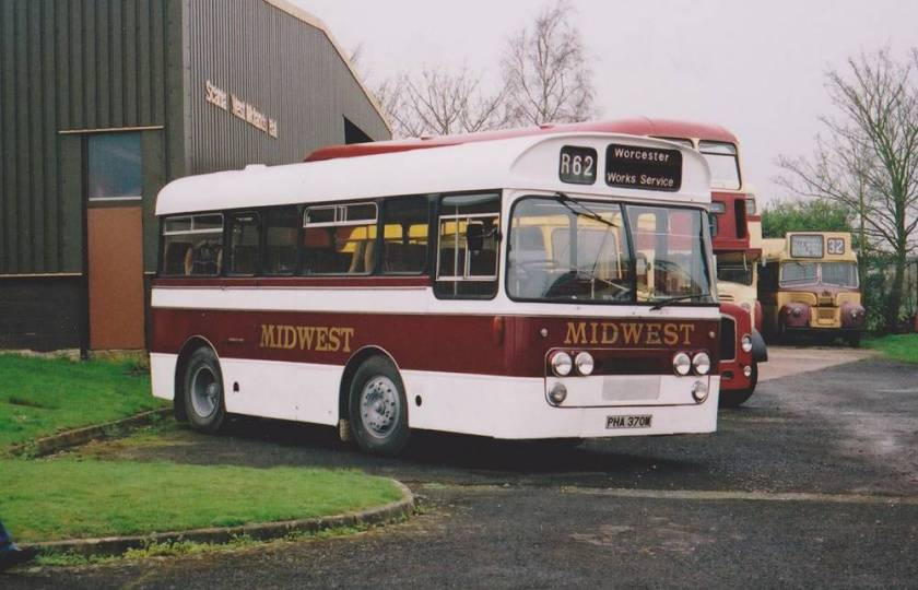Ford R192 with Plaxton Derwent 23 seat coach body