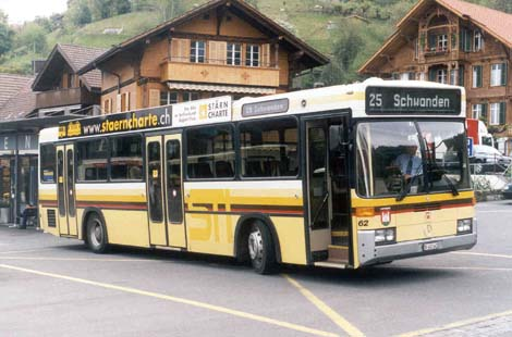 Mercedes-Benz O 405 wurde in der Schweiz  mit Aufbau des Karrosseriers Ramseier und Jenzer