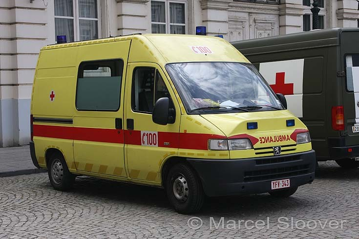 Peugeot Boxer ambulance from the Belgium Red Cross