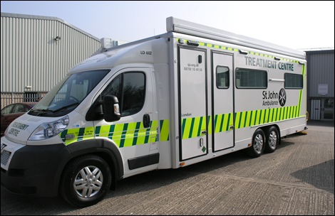 Peugeot Boxer as a St John Ambulance MTC