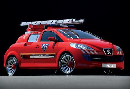 Peugeot brandweerwagen compact