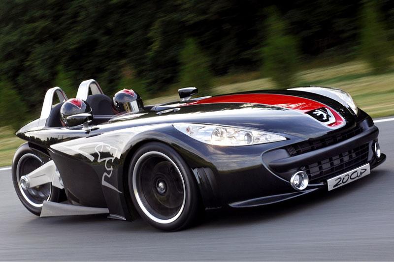 Peugeot driewieler raceauto
