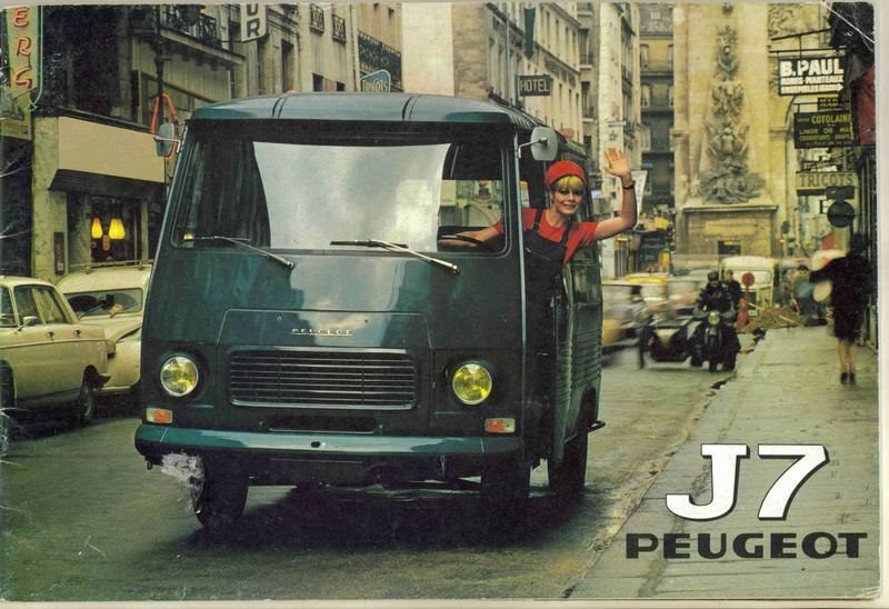 PEUGEOT J7 Catalogue