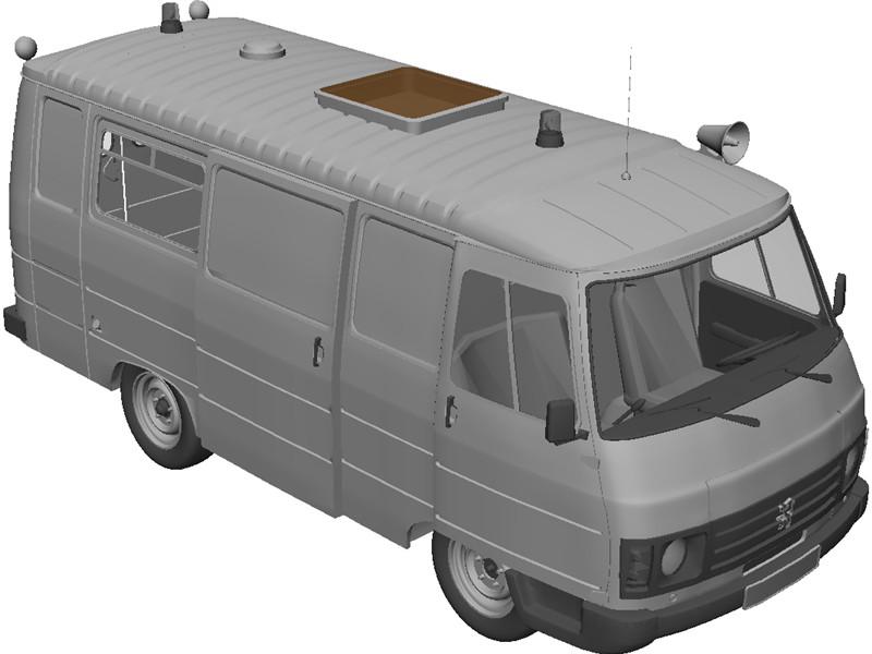 Peugeot J9 3D Model