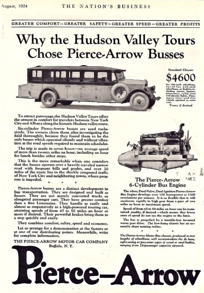 Pierce Arrow 6 cyl bus