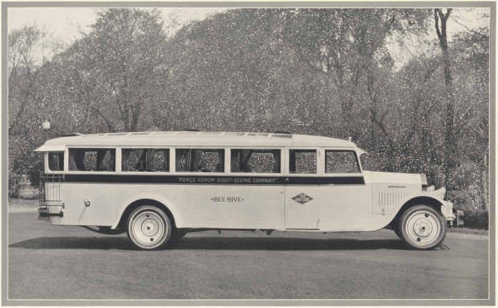 Pierce Arrow Model Z De Luxe Bus for sight seeing