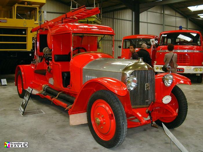 1925 Rochet Schneider Fire Engine .