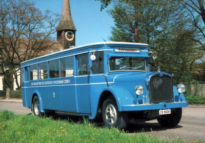 1930s Saurer bus, Zurich, Switzerland