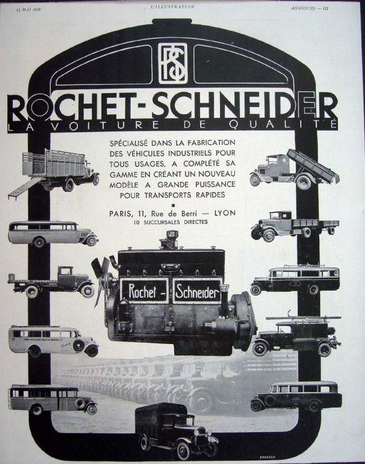 1935 Rochet Schneider Camions Utilitaires