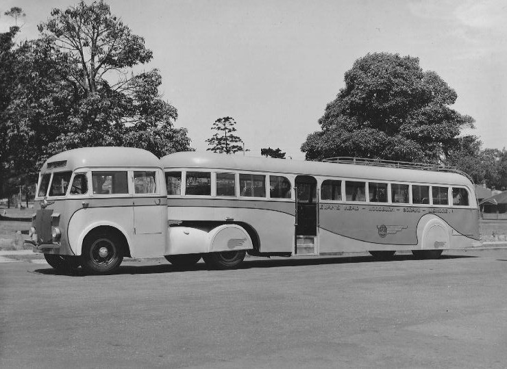 1945 Sydney built REO White Semi-trailer bus with MBA body 1945