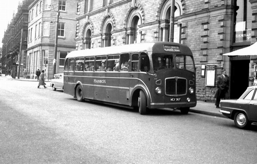 1949 AEC Regal III (ECX741, number 282, which had a Duple B35F body when new in 1949) and was fitted with a Roe FB39F body