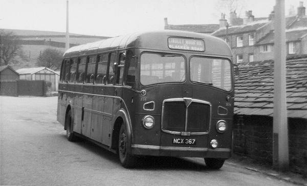 1949 AEC Regal III of 1949 (originally with a Duple body). In 1960 is was rebuilt by Hanson and given a new FB39F body by Roe