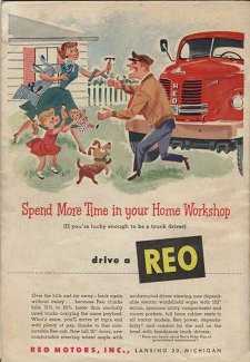1953 REO Motors ad Popular Mechanics Oct 1953