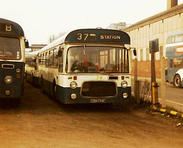 1965 Leyland Panther with 45 seat Roe bodywork