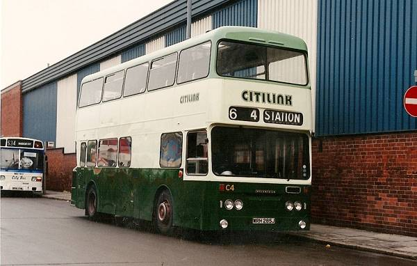 1971 Leyland Atlantean with dual door Roe bodywork