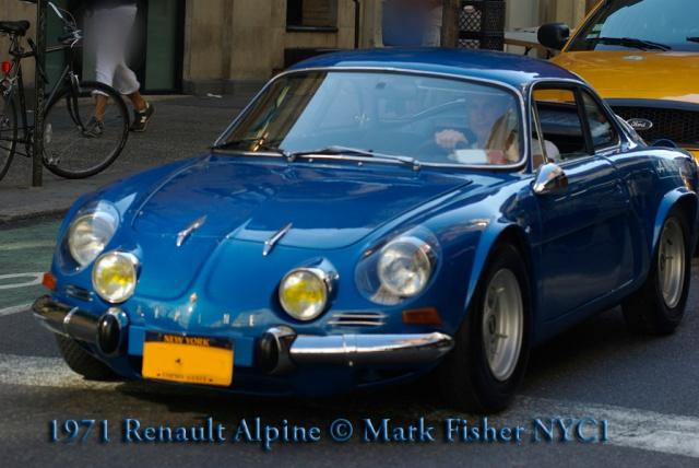 1971 Renault Alpine © Mark Fisher NYC1-5994