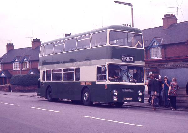 1972 Daimler Fleetline CRG6LX with Roe H44-34F bodywork