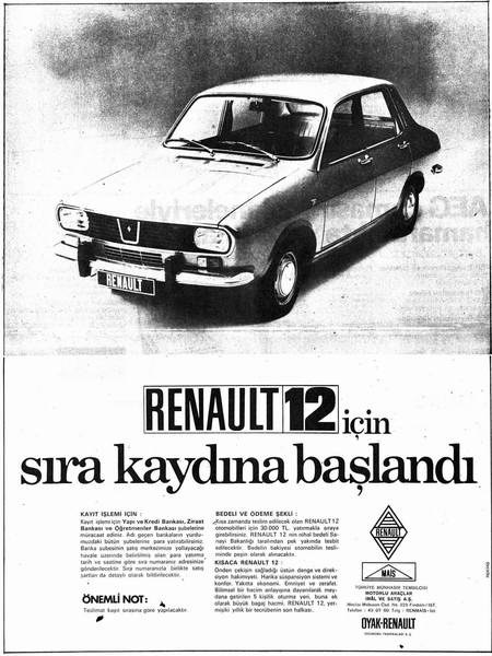 1972 Renault 12 ad