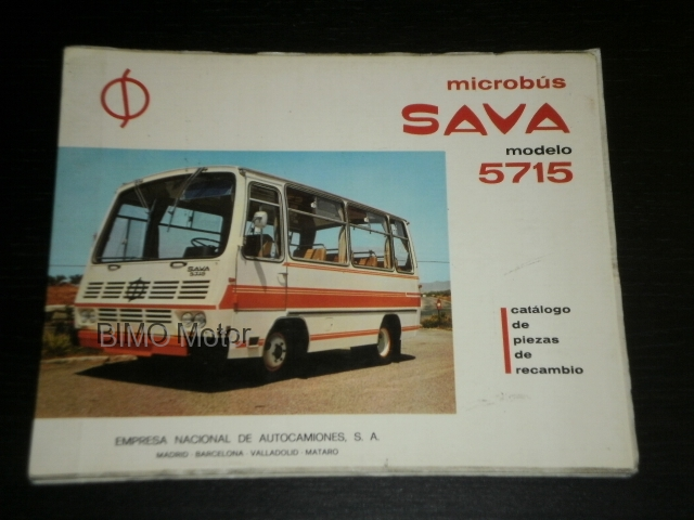 1973-Sava-Pegaso-5715-Microbus-Spare-Parts-Catalogue-Original