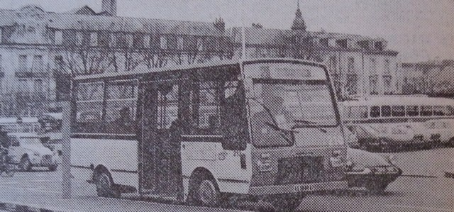 1978 Saviem SB2 n°210 sur la ligne de centre-ville