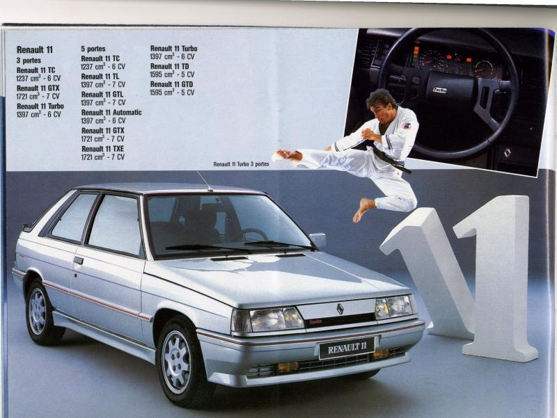 1987 catalogue renault 1987 r11