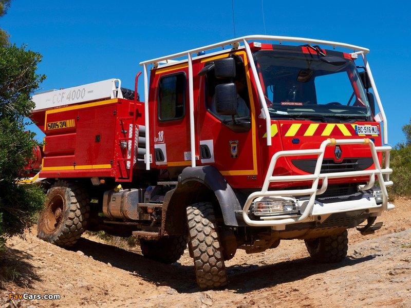 2006-13 Renault Midlum Crew Cab 4x4 firetruck