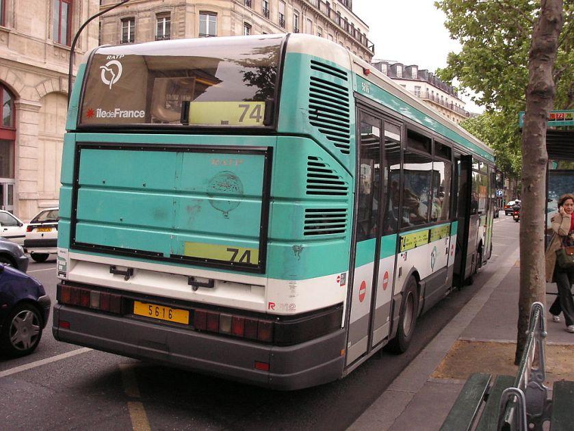 Île-de-France RATP Renault R 312 n°5616 L74 Châtelet