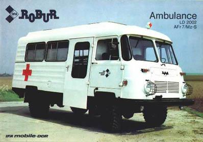 Robur - Bus in Sanitätsausführung