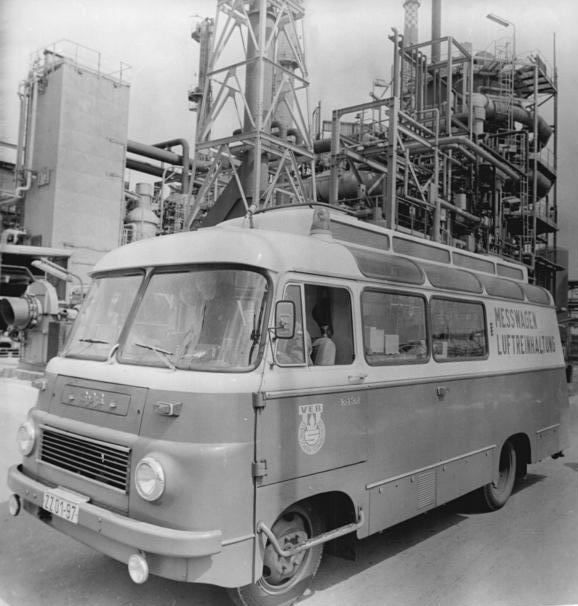 Schwarzheide, VEB Synthesewerk, Messwagen für Luftverschmutzung