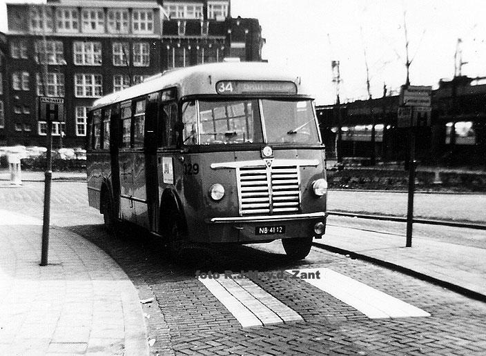 Saurer bussen in Nederland. de RET 329