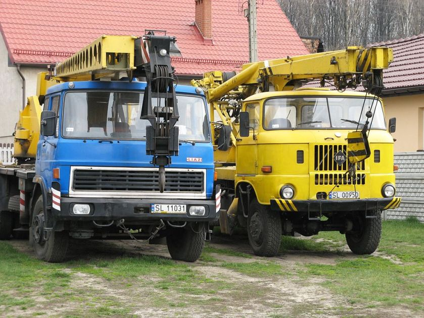 TAKRAF ADK 70 and LIAZ crane Trucks