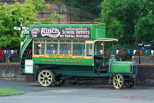 1914 Tilling Stevens TS3 Petrol Electric with 1908 Short Brothers Bus Body