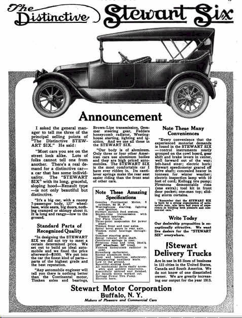 1915 Stewart Automobile Advertisement