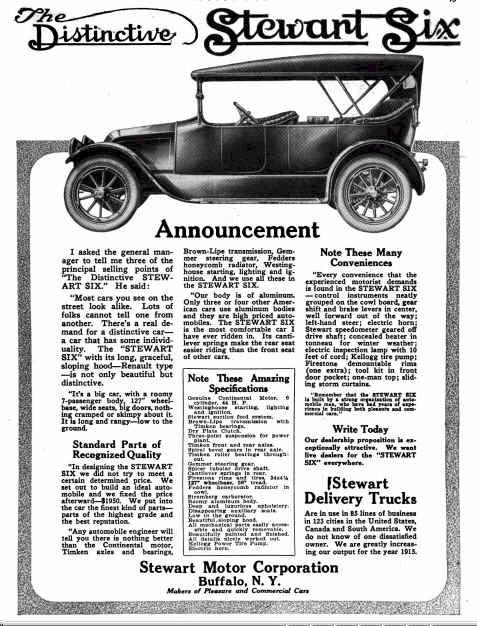 1915 Stewart Automobile Advertisement