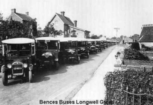 1920s Bence's Buses, Longwell Green, South Gloucestershire