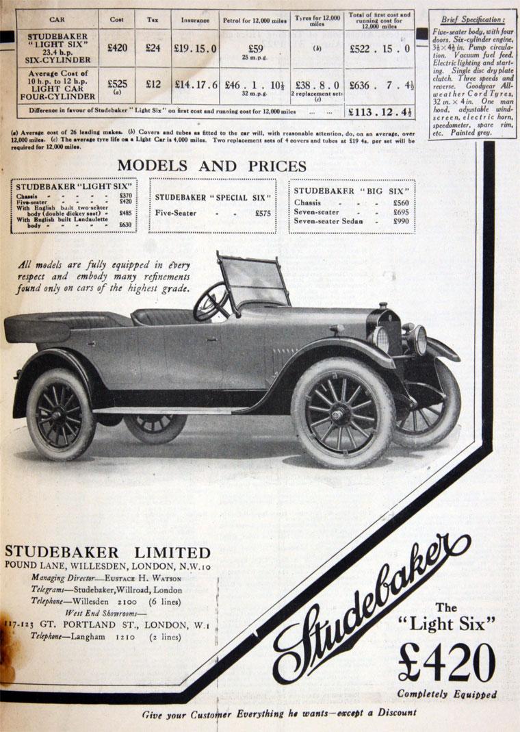 1922 Studebaker c
