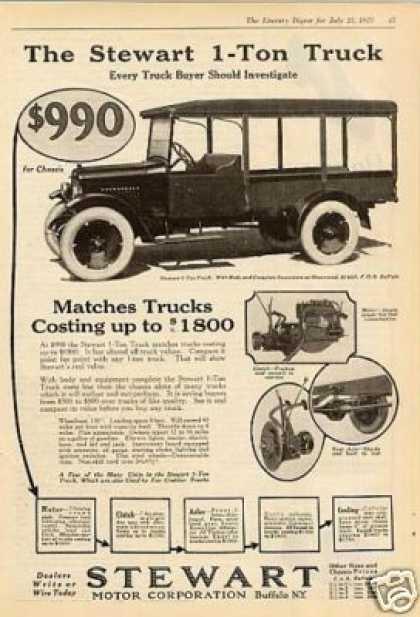 1923 Stewart Trucks Ad