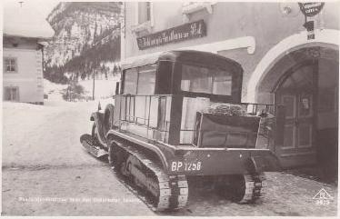1924 Steyr OesterreichPostmotorschlittenRadstaetterTauern_HohlmayrSsGasthaus_Baydekarte