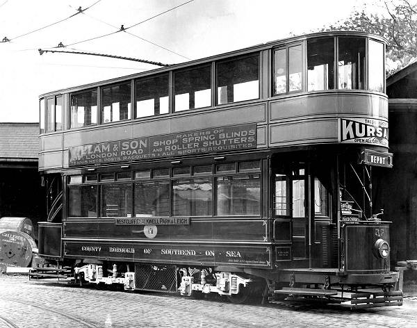1924 tram 57, one of a batch of six 70 seaters built by English Electric