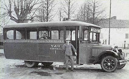 1925 Studebaker van Kerckhoffs, die is ingebracht in de VAD-Central