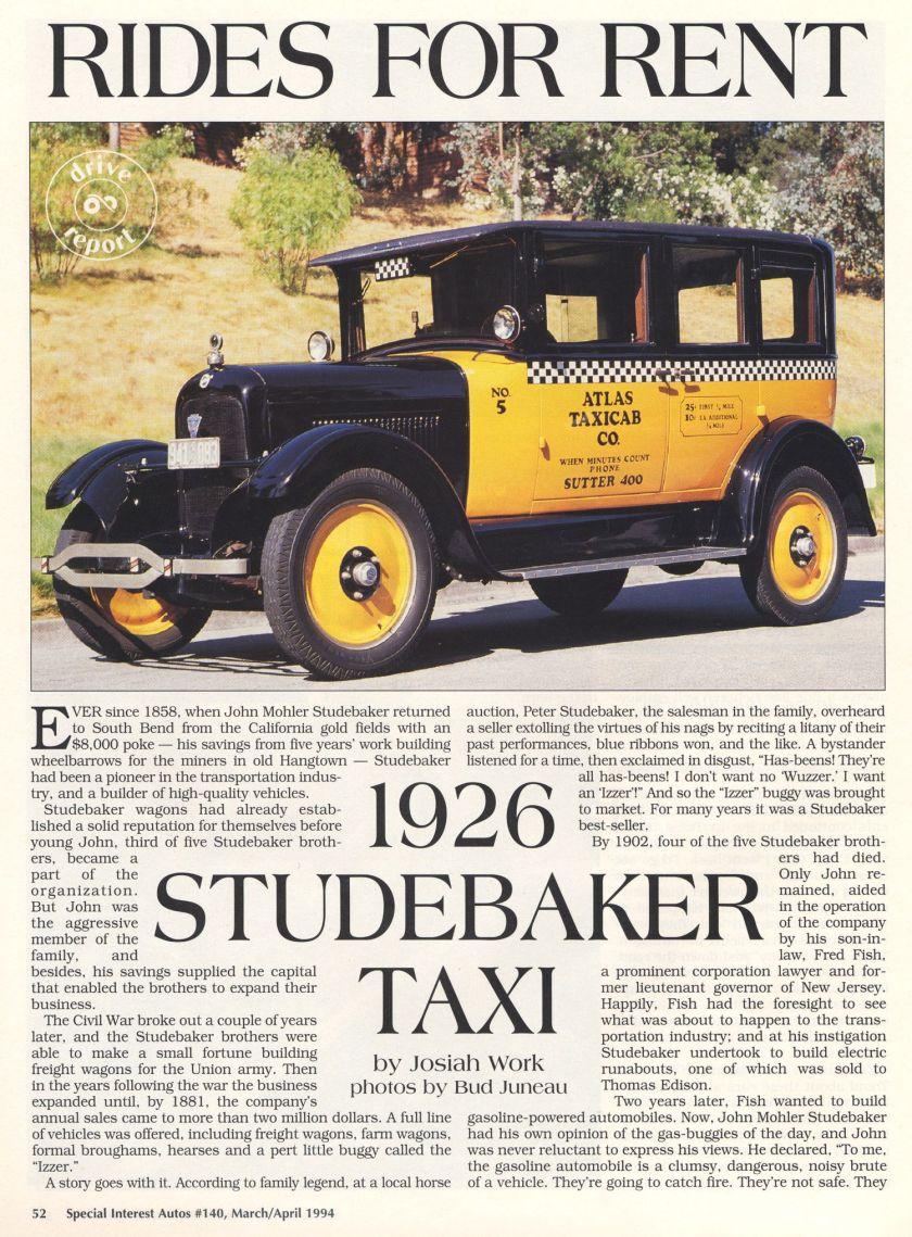 1926 StudeTaxi