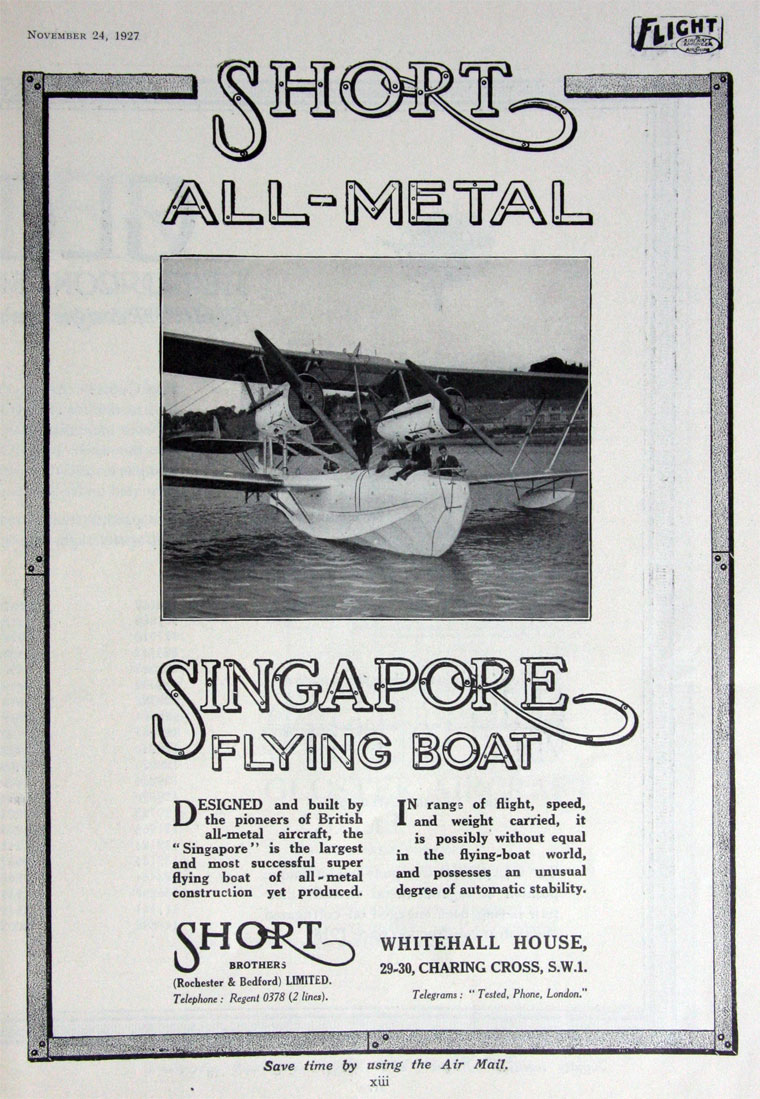 1927 1124Fl-Short Brothers Flying Boat