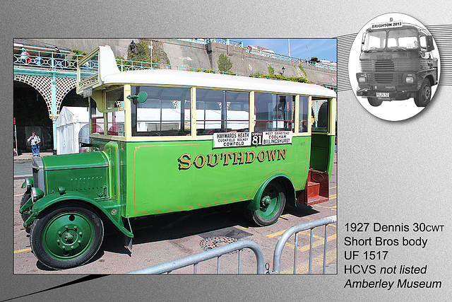 1927 Dennis Short Bros Bus UF 1517
