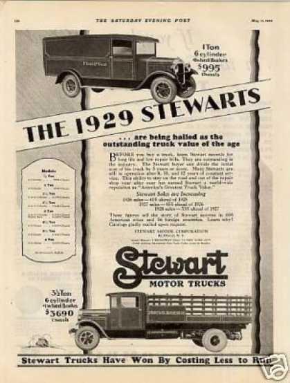 1929 Stewart motor trucks