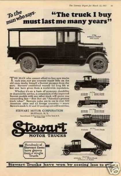 1929 Stewart Trucks Ad The Truck I Buy